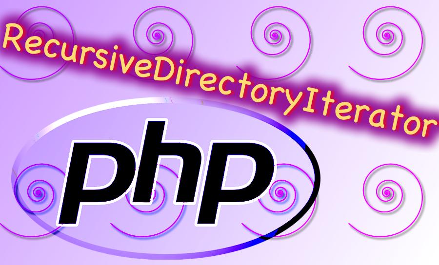PHP Logo with RecursiveDirectoryIterator