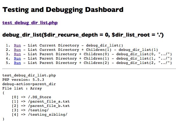 test_debug_current_dir_1 in browser second test link chosen